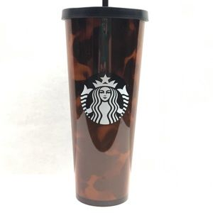 NWT Starbucks Tortoise Shell Tumbler Cold Cup 24oz